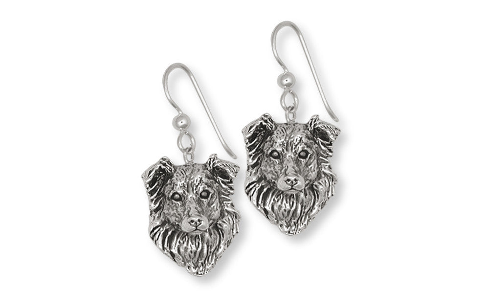 Border Collie Charms Border Collie Earrings Sterling Silver Dog Jewelry Border Collie jewelry