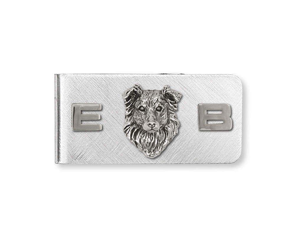 Border Collie Charms Border Collie Money Clip Sterling Silver Dog Jewelry Border Collie jewelry