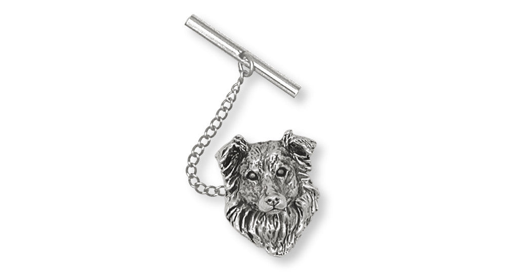 Border Collie Charms Border Collie Tie Tack Sterling Silver Dog Jewelry Border Collie jewelry