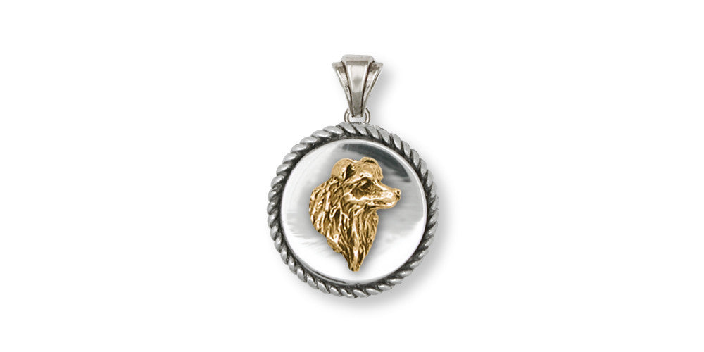 Border Collie Charms Border Collie Pendant Silver And Gold Dog Jewelry Border Collie jewelry