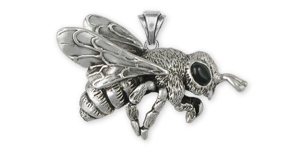 Honey Bee Charms Honey Bee Pendant Sterling Silver Honeybee Jewelry Honey Bee jewelry