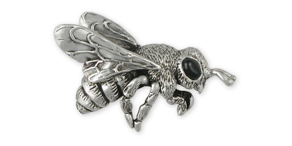 Honey Bee Charms Honey Bee Brooch Pin Sterling Silver Honeybee Jewelry Honey Bee jewelry