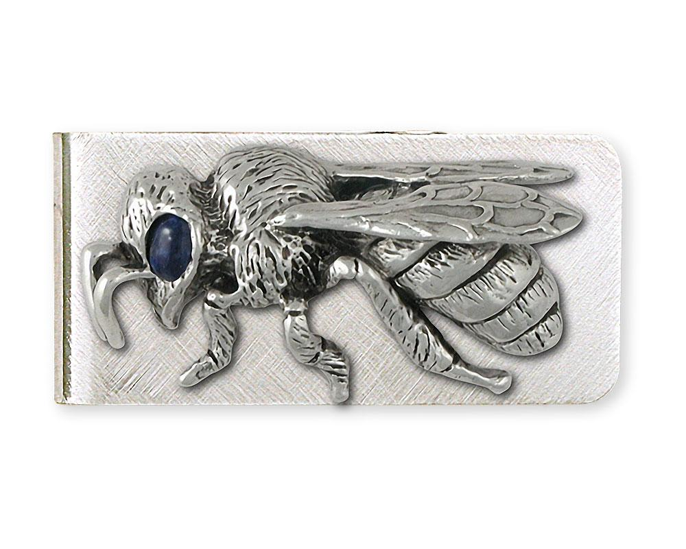 Honey Bee Charms Honey Bee Money Clip Sterling Silver Honeybee Jewelry Honey Bee jewelry