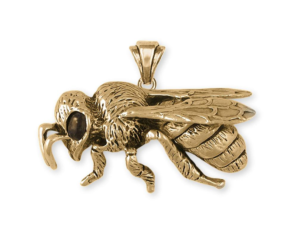 Honey Bee Charms Honey Bee Pendant 14k Gold Honeybee Jewelry Honey Bee jewelry