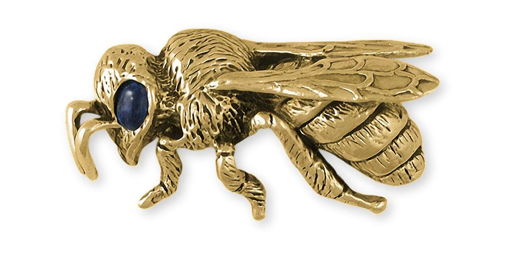 Honey Bee Charms Honey Bee Brooch Pin 14k Gold Honeybee Jewelry Honey Bee jewelry