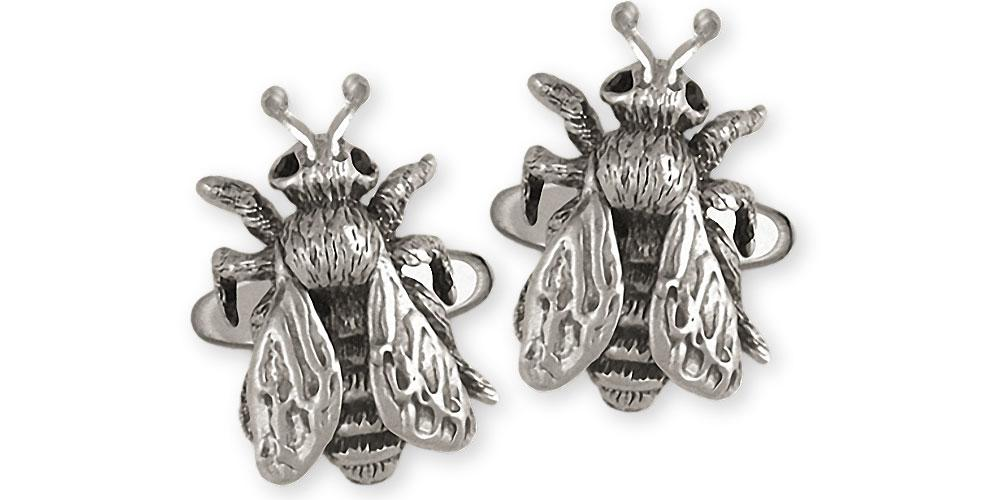 Honey Bee Charms Honey Bee Cufflinks Sterling Silver Honeybee Jewelry Honey Bee jewelry