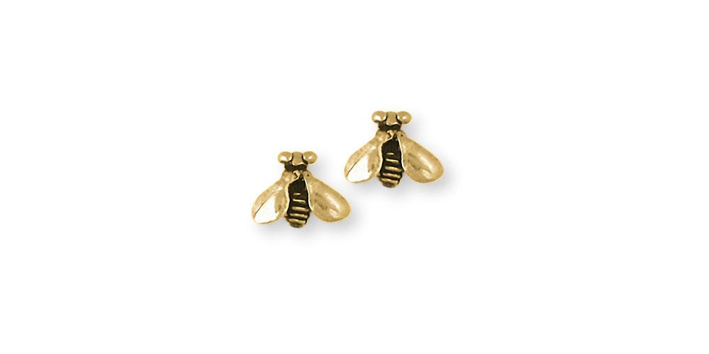 Honey Bee Charms Honey Bee Earrings 14k Gold Honeybee Jewelry Honey Bee jewelry