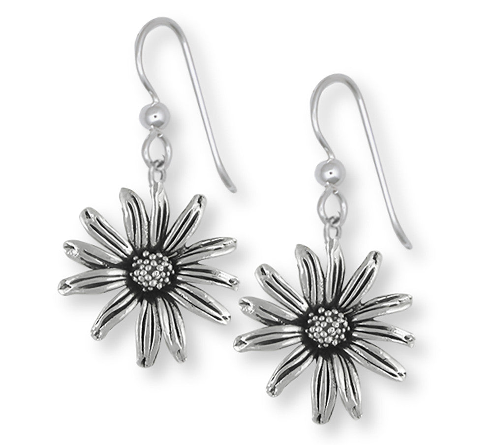 Black Eyed Susan Charms Black Eyed Susan Earrings Sterling Silver Flower Jewelry Black Eyed Susan jewelry
