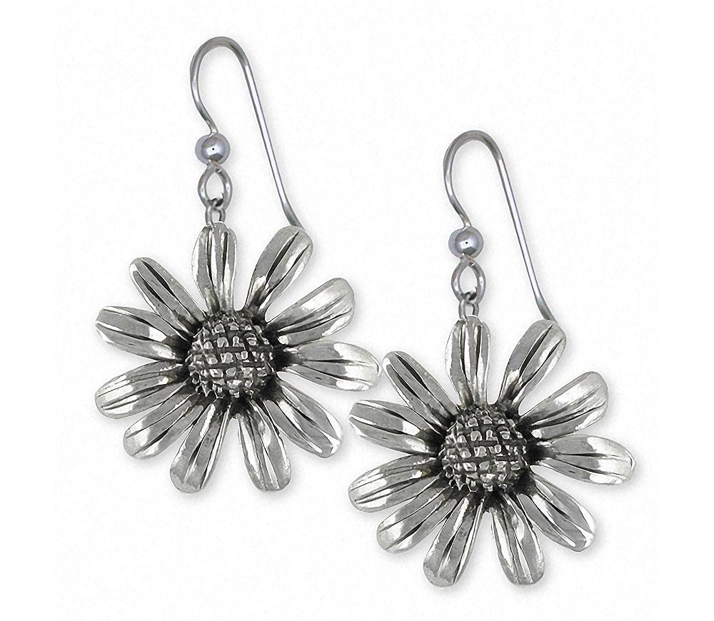 Black Eye Susan Charms Black Eye Susan Earrings Sterling Silver Flower Jewelry Black Eye Susan jewelry