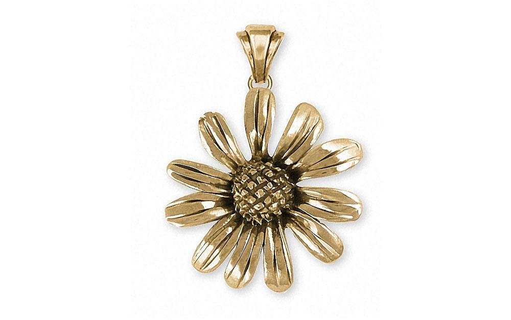 Black Eye Susan Charms Black Eye Susan Pendant 14k Gold Flower Jewelry Black Eye Susan jewelry