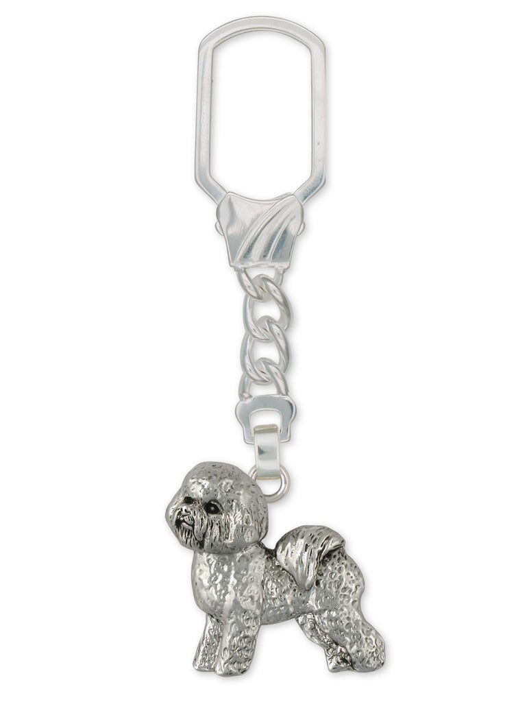 Bichon Frise Charms Bichon Frise Key Ring Sterling Silver Dog Jewelry Bichon Frise jewelry