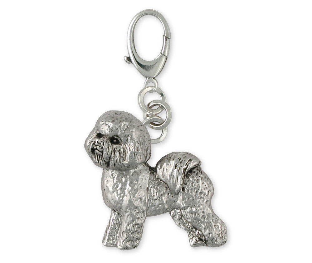 Bichon Frise Charms Bichon Frise Zipper Pull Sterling Silver Dog Jewelry Bichon Frise jewelry