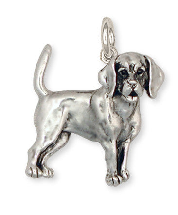 Beagle Dog Pendant Jewelry Handmade Sterling Silver  BG11-C