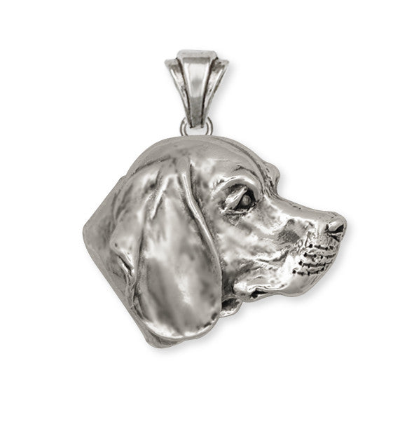 Beagle Dog Pendant Jewelry Handmade Sterling Silver  BG12-P