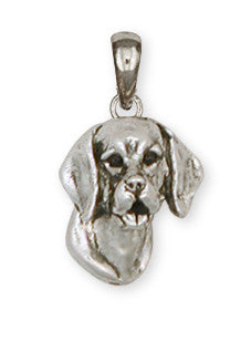 Beagle Dog Pendant Jewelry Handmade Sterling Silver  BG16-P