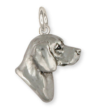 Beagle Dog Charm Jewelry Handmade Sterling Silver  BG19-C