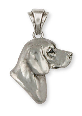 Beagle Dog Pendant Jewelry Handmade Sterling Silver  BG19-P
