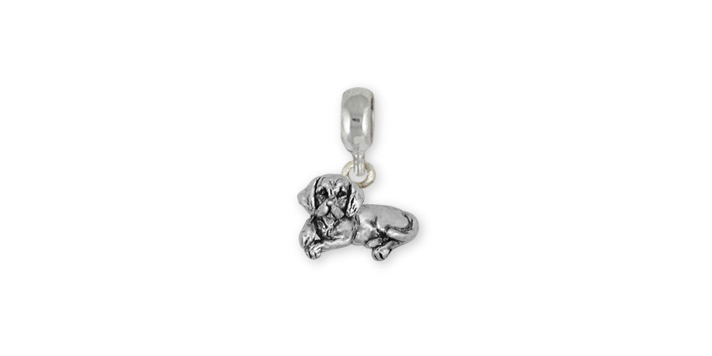 Beagle Charms Beagle Charm Slide Sterling Silver Dog Jewelry Beagle jewelry