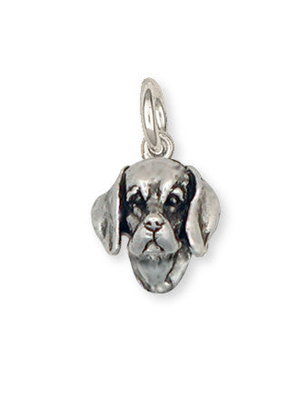Beagle Dog Charm Jewelry Handmade Sterling Silver  BG7-C