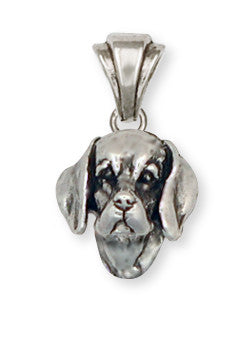 Beagle Dog Pendant Jewelry Handmade Sterling Silver  BG7-P