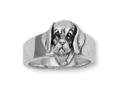 Beagle Dog Ring Jewelry Handmade Sterling Silver  BG7-R
