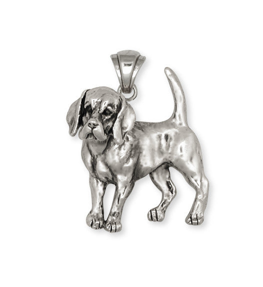 Beagle Dog Pendant Jewelry Handmade Sterling Silver  BG9-P