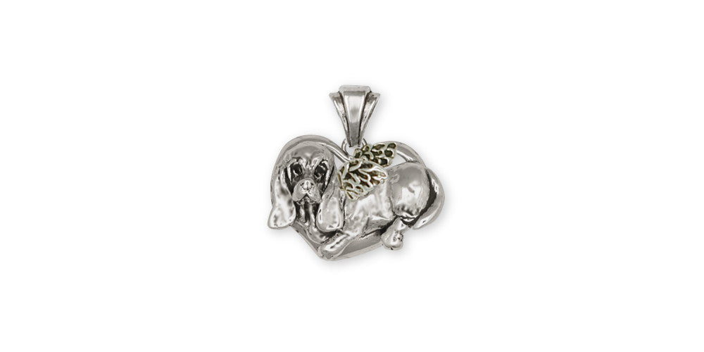 Basset Hound Angel Charms Basset Hound Angel Pendant Sterling Silver Dog Jewelry Basset Hound Angel jewelry