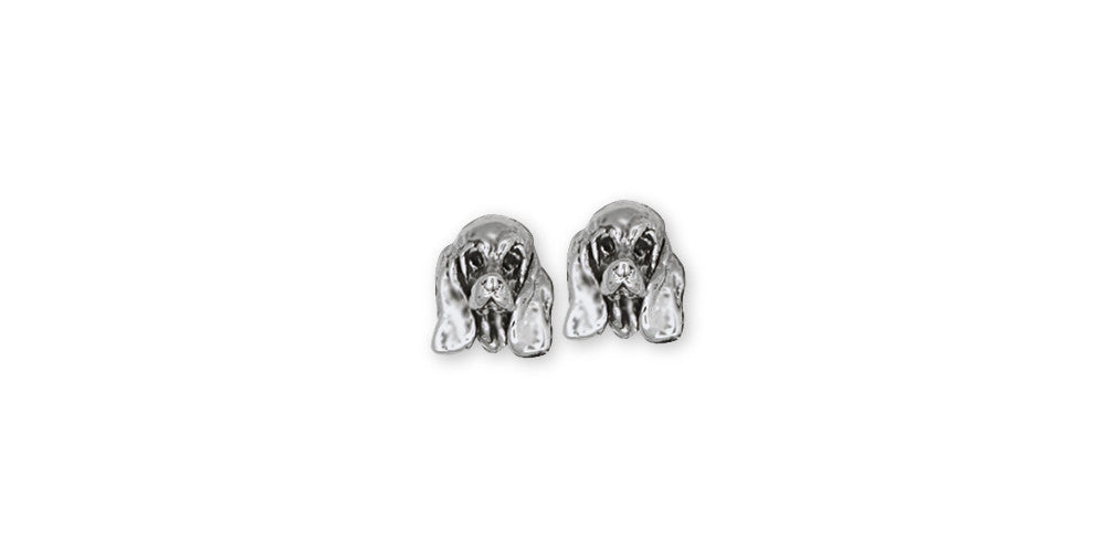 Basset Hound Charms Basset Hound Earrings Sterling Silver Dog Jewelry Basset Hound jewelry
