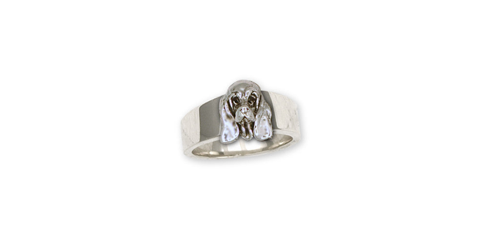 Basset Hound Charms Basset Hound Ring Sterling Silver Dog Jewelry Basset Hound jewelry