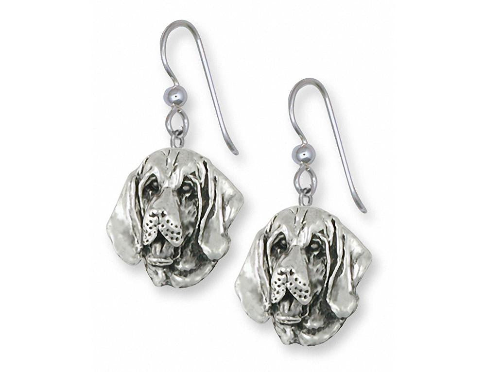 Bloodhound Charms Bloodhound Earrings Sterling Silver Dog Jewelry Bloodhound jewelry