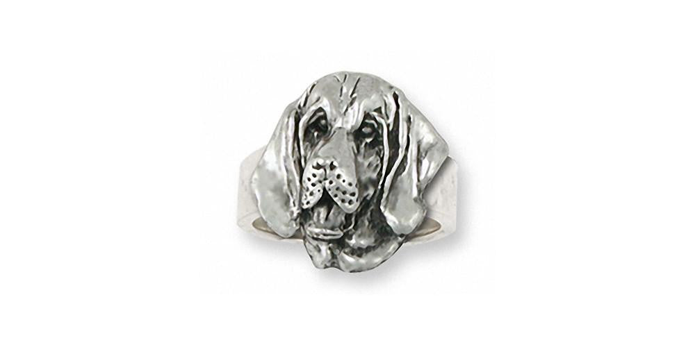 Bloodhound Charms Bloodhound Ring Sterling Silver Dog Jewelry Bloodhound jewelry