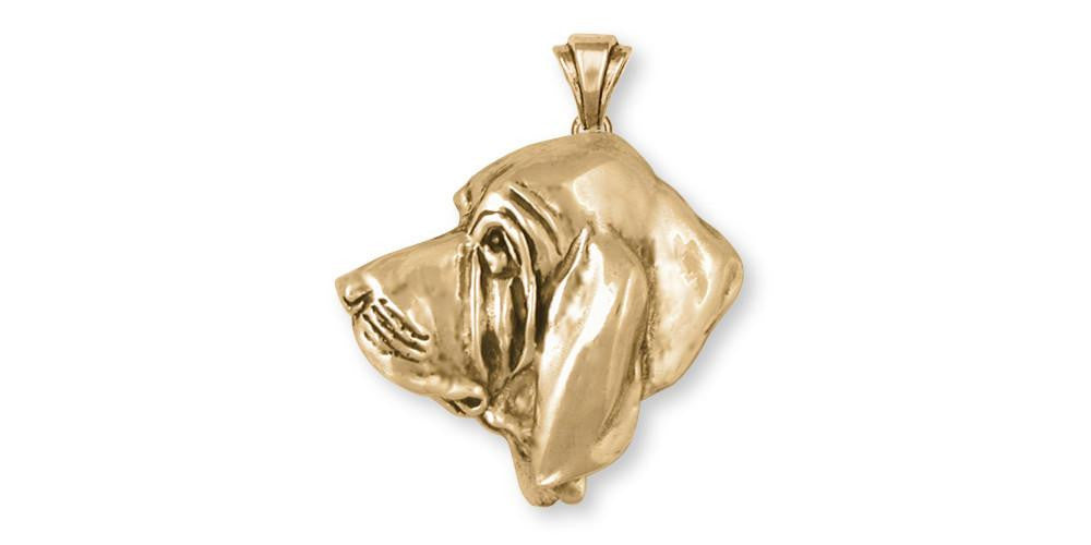 Bloodhound Charms Bloodhound Pendant 14k Gold Dog Jewelry Bloodhound jewelry