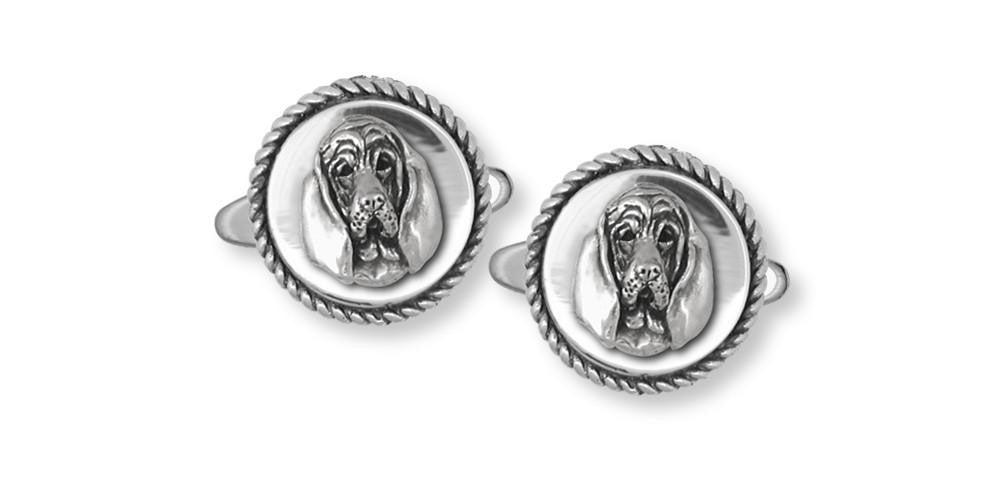 Bloodhound Charms Bloodhound Cufflinks Sterling Silver Dog Jewelry Bloodhound jewelry