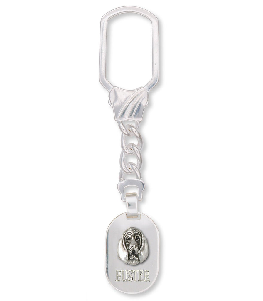 Bloodhound Charms Bloodhound Key Ring Sterling Silver Dog Jewelry Bloodhound jewelry