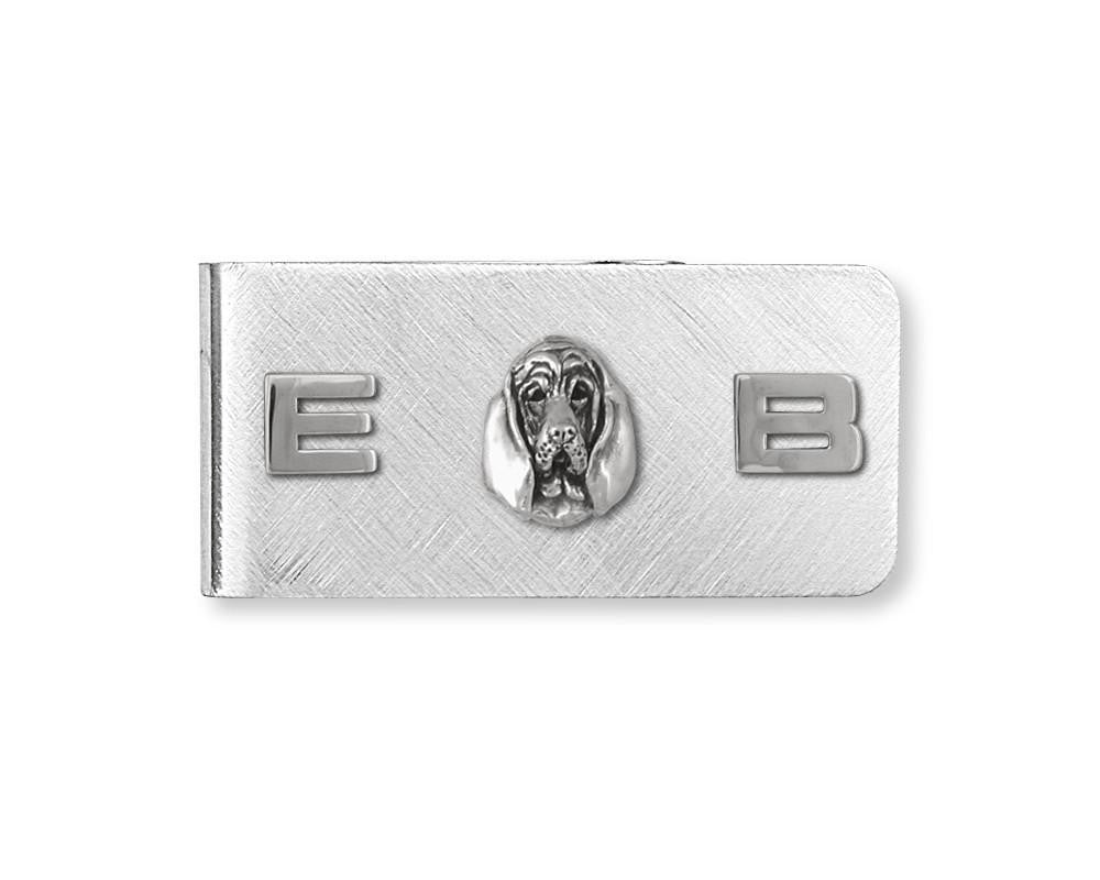 Bloodhound Charms Bloodhound Money Clip Sterling Silver Dog Jewelry Bloodhound jewelry