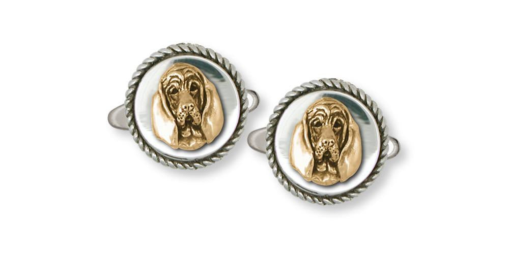 Bloodhound Charms Bloodhound Cufflinks Silver And Gold Dog Jewelry Bloodhound jewelry