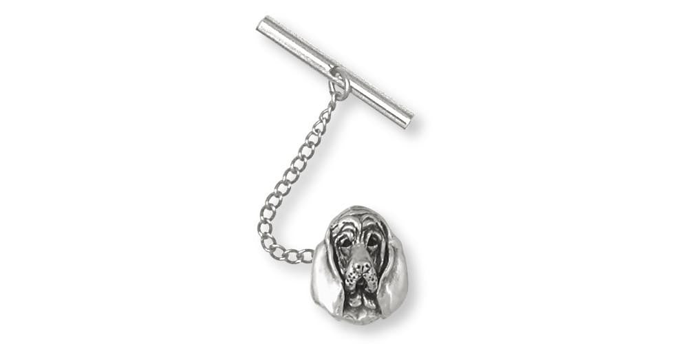 Bloodhound Charms Bloodhound Tie Tack Sterling Silver Dog Jewelry Bloodhound jewelry