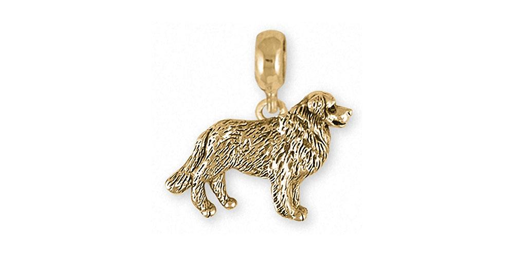 Bernese Mountain Dog Charms Bernese Mountain Dog Charm Slide 14k Gold Dog Jewelry Bernese Mountain Dog jewelry