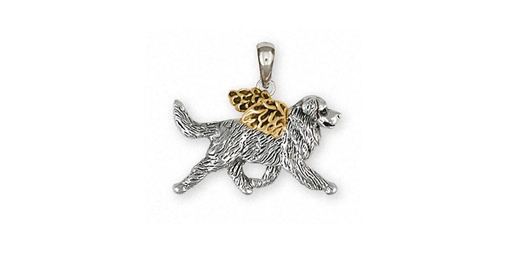 Bernese Mountain Dog Charms Bernese Mountain Dog Pendant Silver And 14k Gold Dog Jewelry Bernese Mountain Dog jewelry