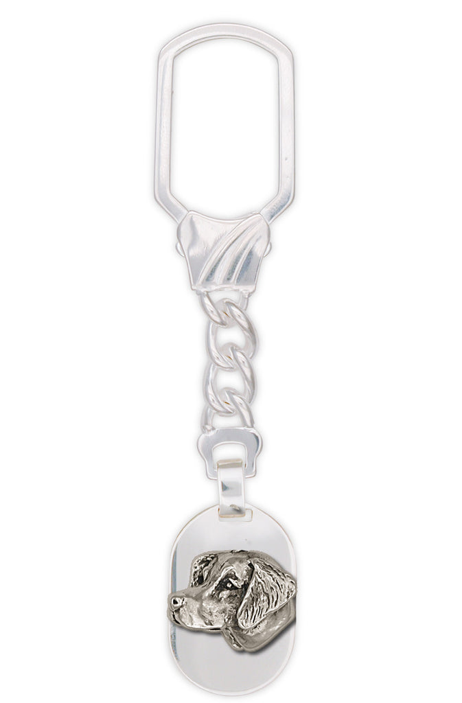 Brittany Dog Charms Brittany Dog Key Ring Handmade Sterling Silver Dog Jewelry Brittany dog jewelry
