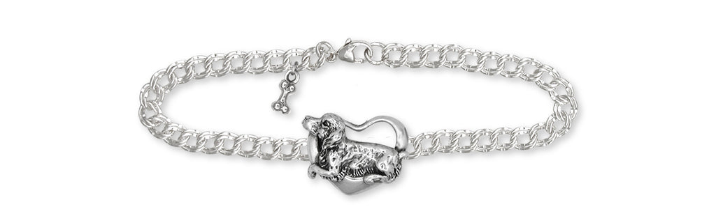 Brittany Dog Charms Brittany Dog Bracelet Handmade Sterling Silver Dog Jewelry Brittany dog jewelry
