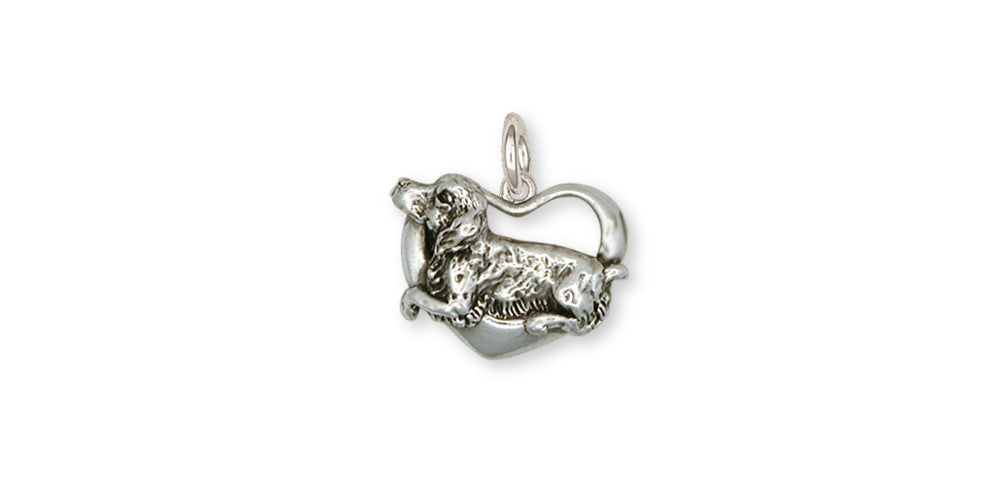 Brittany Dog Charms Brittany Dog Charm Handmade Sterling Silver Dog Jewelry Brittany dog jewelry