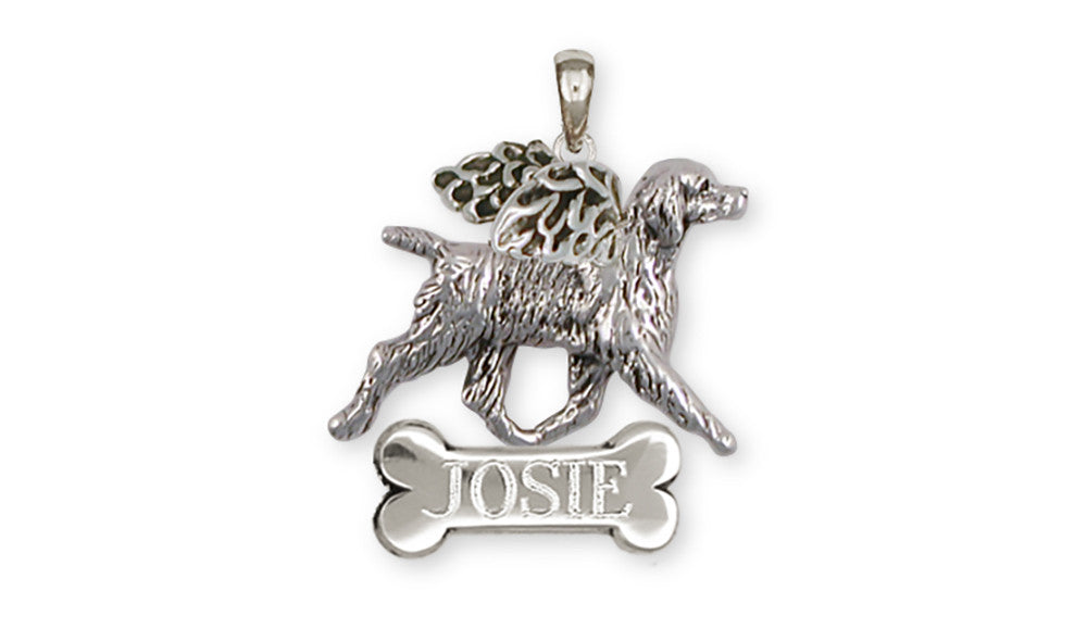 Brittany Angel Dog Charms Brittany Angel Dog Personalized Pendant Sterling Silver Dog Jewelry Brittany Angel dog jewelry