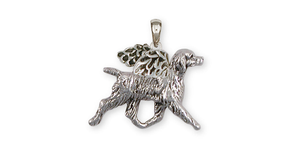 Brittany Angel Charms Brittany Angel Pendant Handmade Sterling Silver Dog Jewelry Brittany Angel jewelry