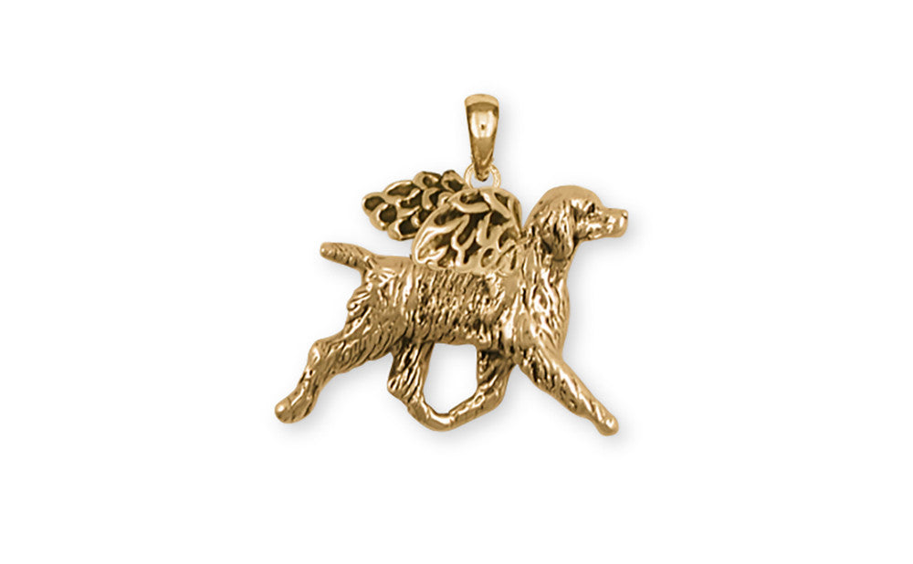 Brittany Dog Charms Brittany Dog Pendant 14k Yellow Gold Vermeil Dog Jewelry Brittany dog jewelry