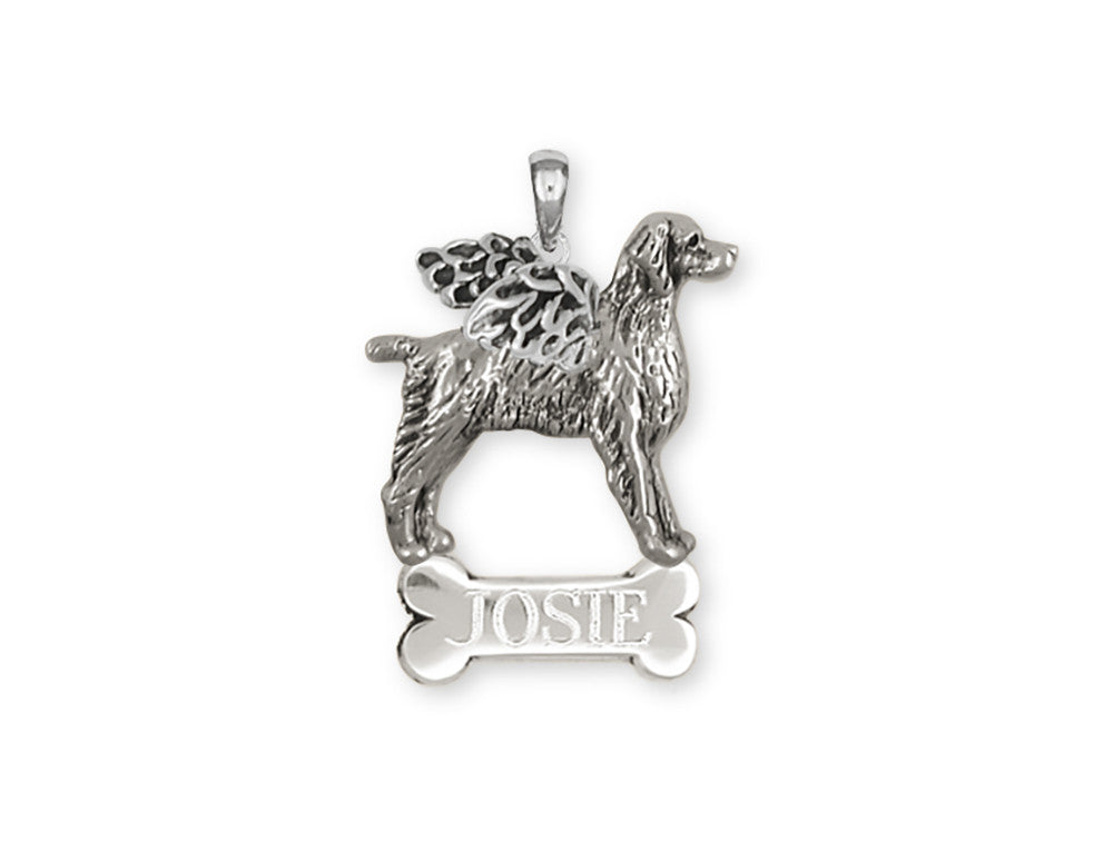 Brittany Angel Charms Brittany Angel Personalized Pendant Handmade Sterling Silver Dog Jewelry Brittany Angel jewelry