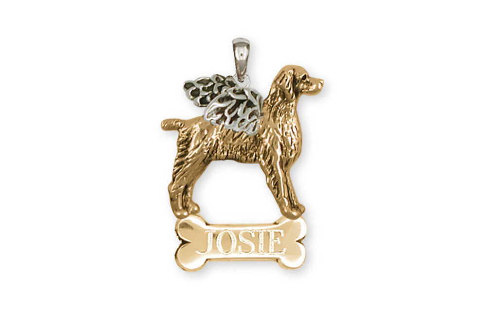 Brittany Angel Charms Brittany Angel Personalized Pendant 14k Two Tone Gold Vermeil Dog Jewelry Brittany Angel jewelry