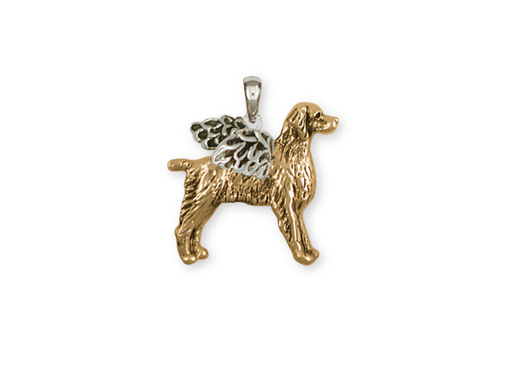 Brittany Dog Charms Brittany Dog Pendant 14k Two Tone Gold Vermeil Dog Jewelry Brittany dog jewelry