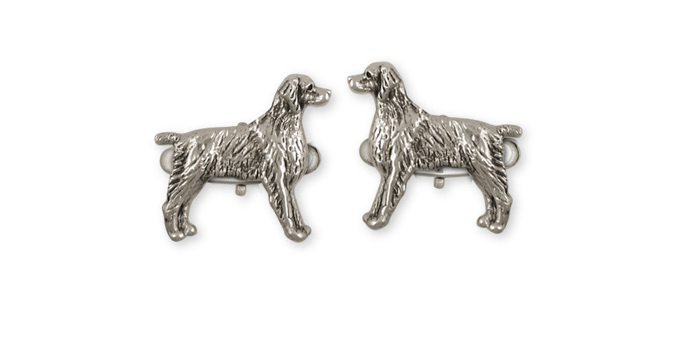 Brittany Dog Charms Brittany Dog Cufflinks Handmade Sterling Silver Dog Jewelry Brittany dog jewelry