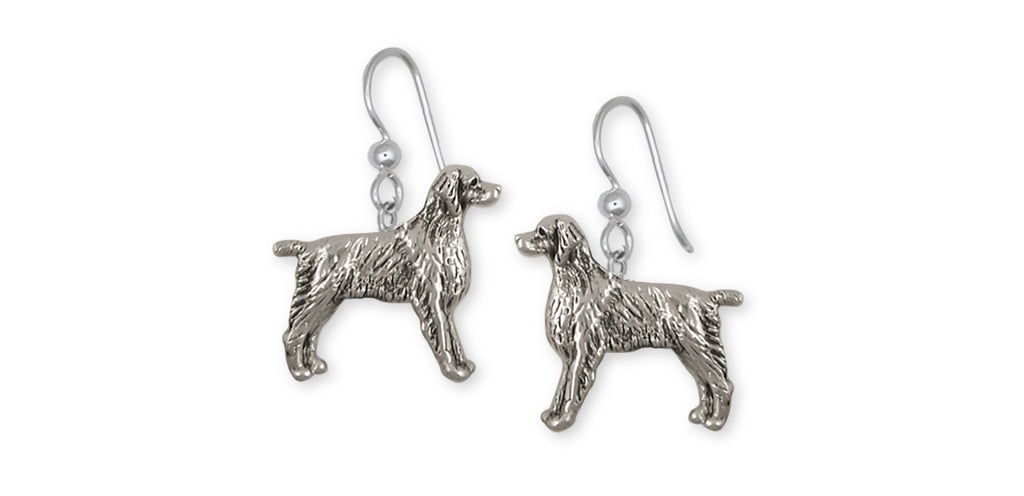 Brittany Dog Charms Brittany Dog Earrings Handmade Sterling Silver Dog Jewelry Brittany dog jewelry